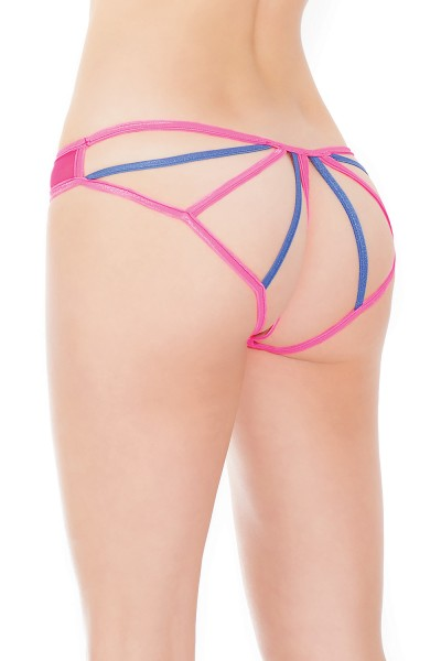 172 - Panty - Neon Pink/Blue