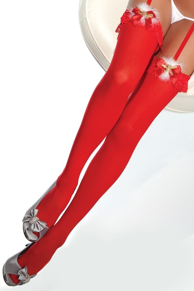 1755 - Stockings - Red - OS