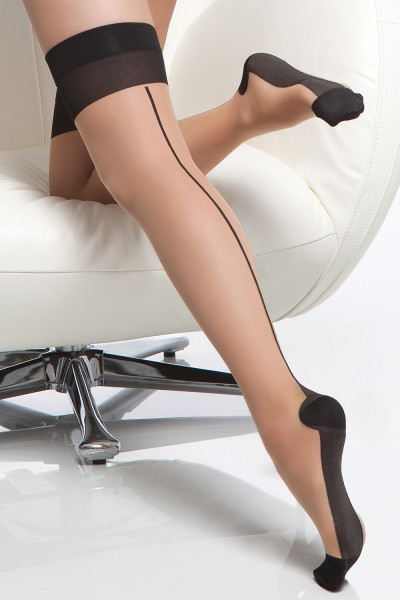 1765 - Stockings - Nude/Black - OS
