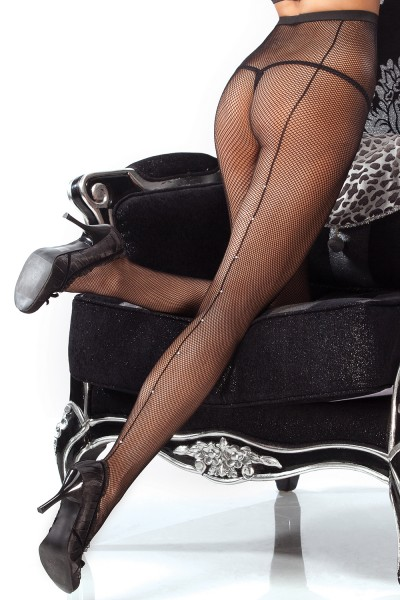 1782 - Fishnet Pantyhose - Black - OS