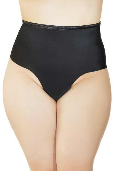 178 - Plus Size High Waisted Thong