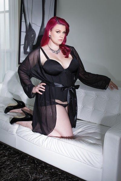 3709 - Plus Size Mesh Robe