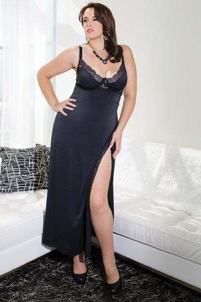 7049 - Plus Size Gown - Black
