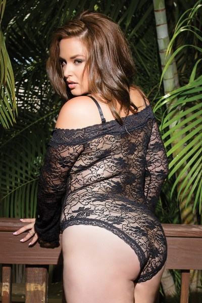 7069 - Plus Size Lace Teddy