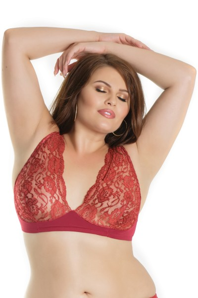 7206X - Plus Size Lace Bra