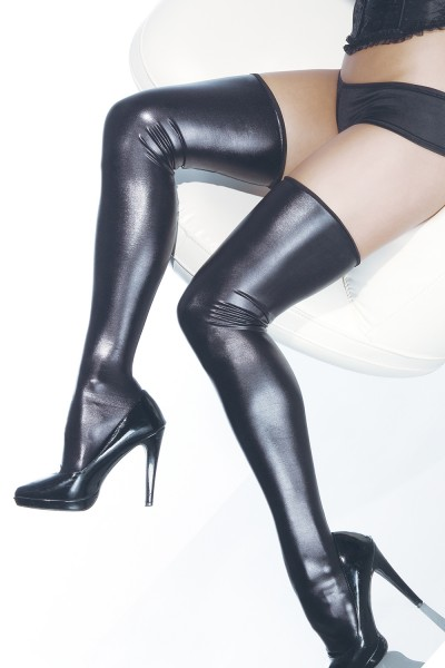 D1728 - Plus Size Stockings - Black