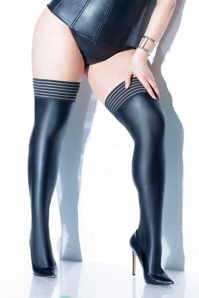 D1879X - Plus Size Stockings - Black