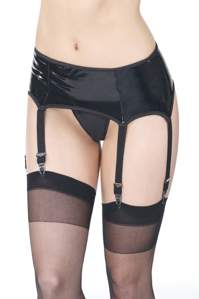 D9215 - Plus Size Garter Belt - Black