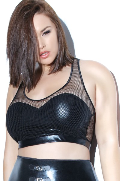 D9319 - Plus Size Bra Top - Black