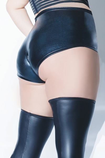 Plus Size Slick Booty Short