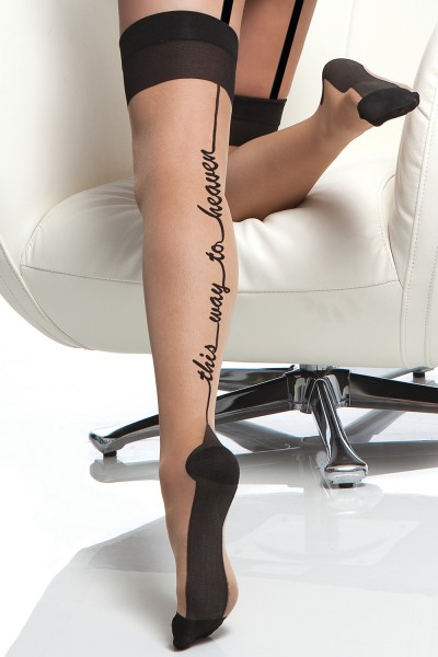 1791 - Plus Size Sheer Stocking - Nude/Black