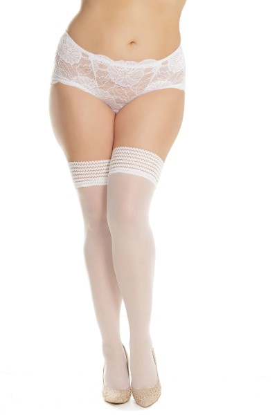 1906X - Plus Size Stockings - White - OSXL