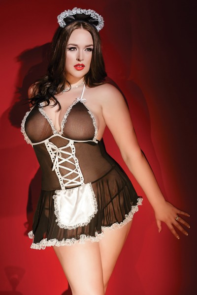 1938 - Plus Size French Maid Babydoll