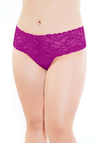 225X - Plus Size High Waisted Thong