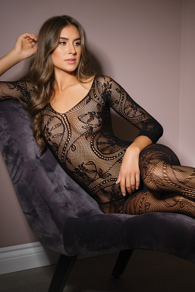 2559 - Bodystocking - Black - OS