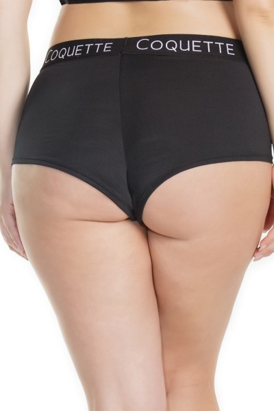 7213X - Plus Size Booty Short - Black