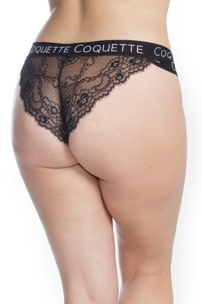 7214X - Plus Size Lace Panty - Black