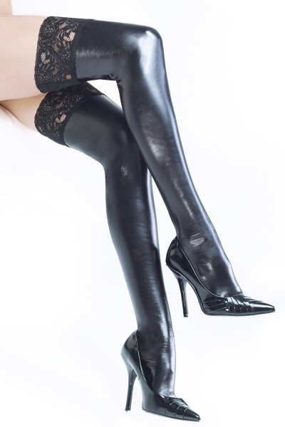 D1729 - Plus Size Stockings - Black