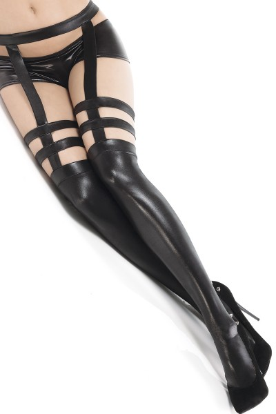 D1731 - Plus Size Stockings - Black