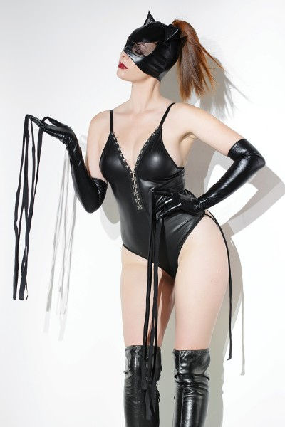 D2243 - Gloves with Whips - Black - OS