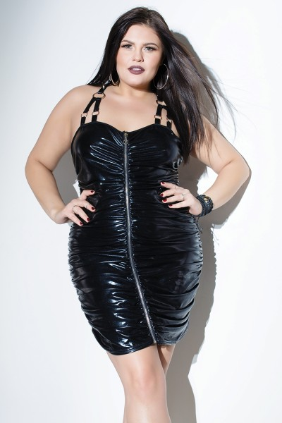 D9273 - Plus Size Dress - Black