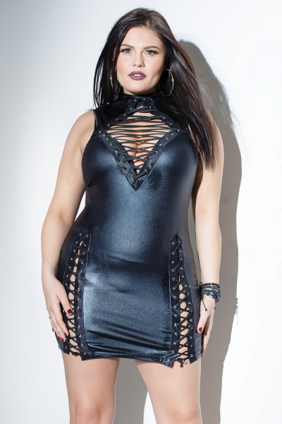 D9313X - Plus Size Dress - Black