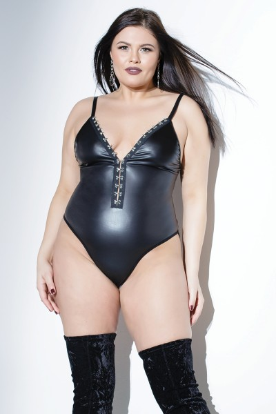 D9381X - Chained Booty Teddy - Black - OSXL