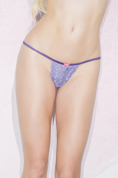 S4079 - G-String - Periwinkle/Melon